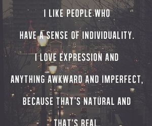 awkward, individuality, and quote image