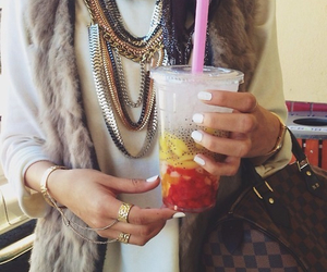 style, hijab, and drink image