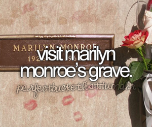 grave, Marilyn Monroe, and visit image