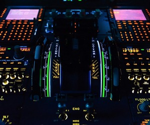 a320, Airbus, and cockpit image