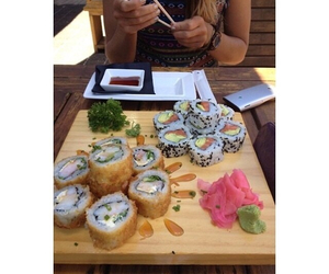 fashion, sushi, and food image