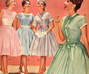 vintage, dress, and 50s image