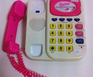 barbie, phone, and toy image