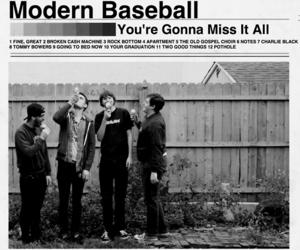 band, black and white, and modern baseball image