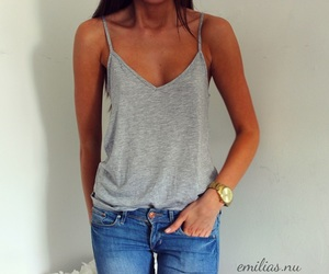 fashion, grey, and jeans image