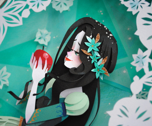 art, Paper, and snow white image