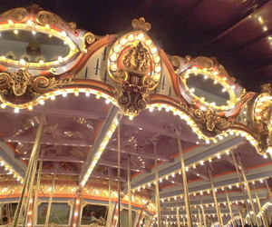 carousel, carrousel, and light image