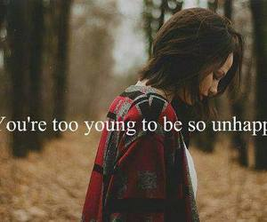 unhappy, young, and quote image