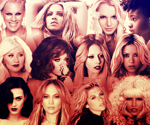 britney spears, christina, and queens image
