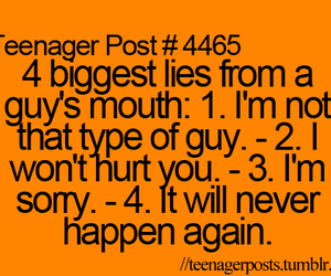 guy, lies, and teenager post image