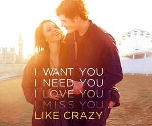 love, like crazy, and crazy image