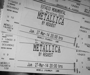 metallica and ticket image