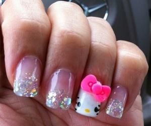 nails and hello kitty image