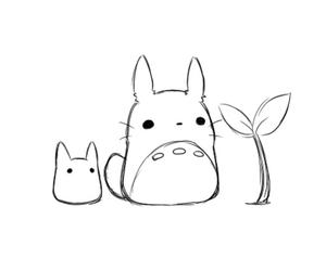 kawaii, cute, and totoro image