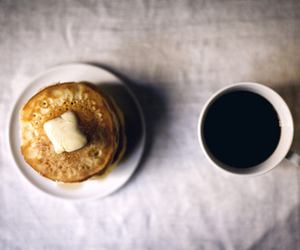 pancakes, breakfast, and coffee image