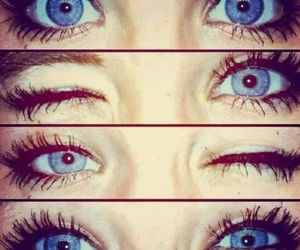 blue, eyelashes, and eyes image