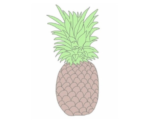 pineapple, overlay, and summer image