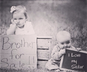 brother, child, and sister image
