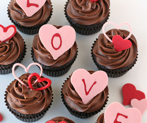 love, cupcake, and food image