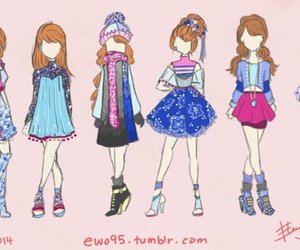 anna, frozen, and fashion image