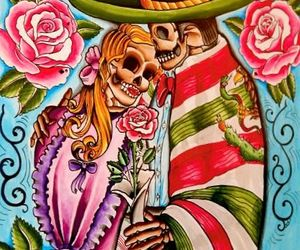 corpses, day of the dead, and love image