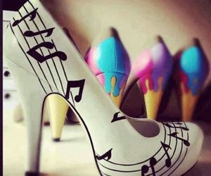 shoes, music, and heels image