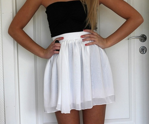 clothes, girl, and skirt image