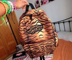 bag, zebra, and girl image