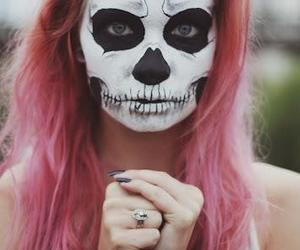 girl, Halloween, and pink image