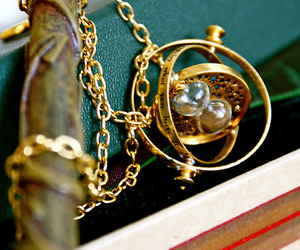 harry potter, time turner, and necklace image