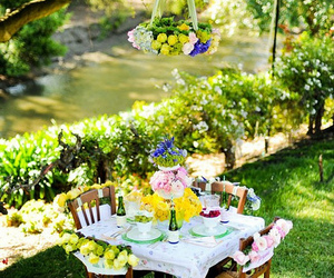 brunch, flowers, and lunch image