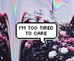 tired, grunge, and care image