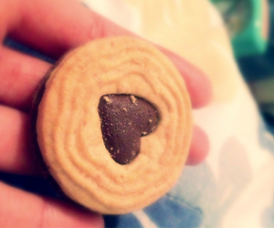 <3, cookie, and heart image