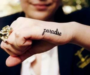 paradise, tattoo, and ring image
