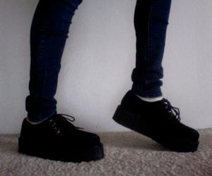 creepers, grunge, and black image