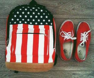 vans, red, and usa image