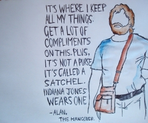 the hangover, alan, and funny image