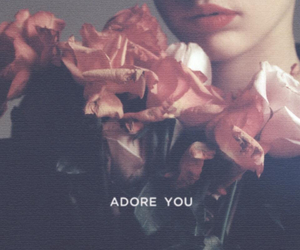 adore you, miley cyrus, and rose image