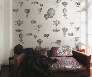 airship, balloon, and bed image