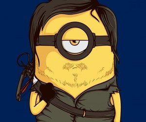 minions, daryl dixon, and the walking dead image