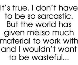 quote, sarcastic, and true image