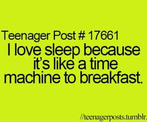 breakfast, teenager post, and sleep image