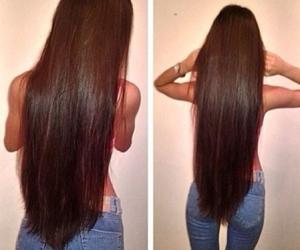 long brown hair image