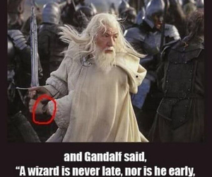 gandalf, funny, and lord of the rings image
