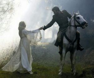 horse, fantasy, and couple image