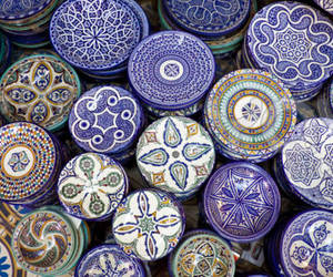 pattern, blue, and exotic image
