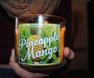candle, mango, and pineapple image