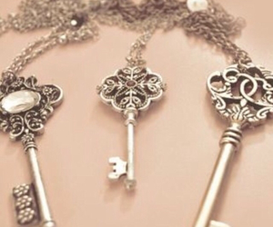 key, necklace, and vintage image