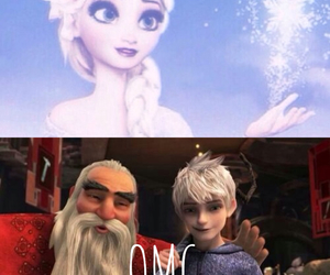 jack frost, elsa frozen, and north image