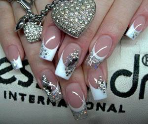 black, french tips, and design image